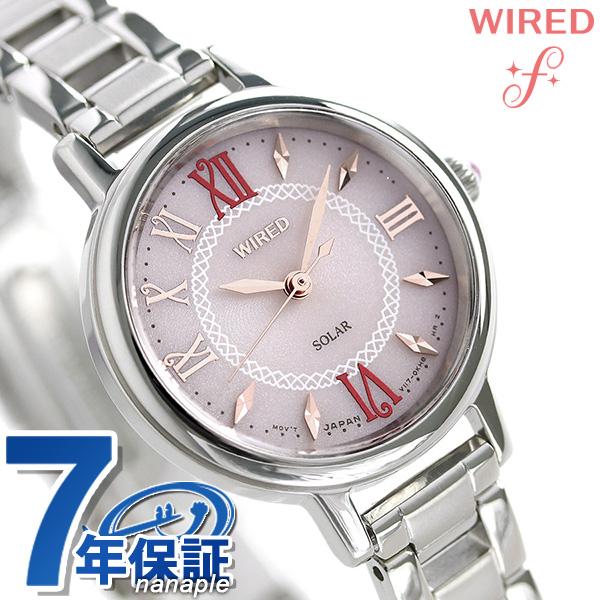 セイコー ワイアード エフ SEIKO WIRED f ソーラー レディース 腕時計 AGED099 ピンク 時計