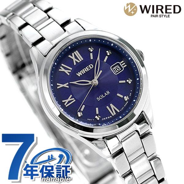 セイコー ワイアード エフ ソーラー カレンダー レディース 腕時計 AGED103 SEIKO WIRED f ブルー 時計【あす楽対応】