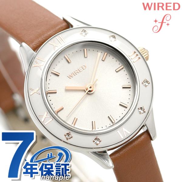 セイコー ワイアード エフ SEIKO WIRED f レディース 腕時計 AGEK442 シルバー×ブラウン 時計