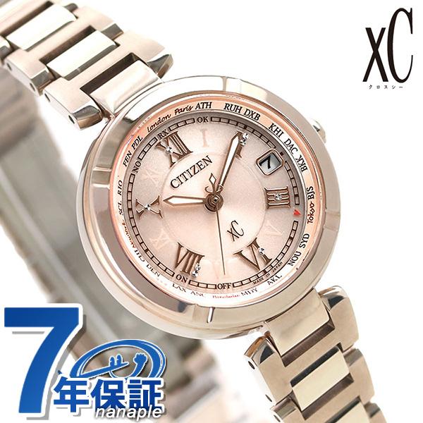 シチズン クロスシー CITIZEN xC エコドライブ 電波時計 サクラピンク(R) レディース 腕時計 EC1115-59W 電波 ソーラー チタン 時計【あす楽対応】