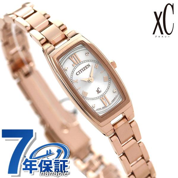 シチズン クロスシー ソーラー シルバー×ピンクゴールド CITIZEN xC EG2872-52A 腕時計 時計【あす楽対応】