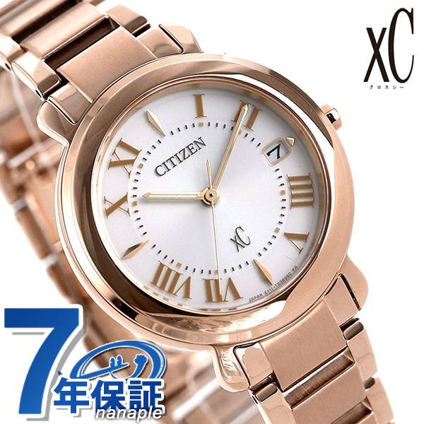 シチズン クロスシー エコドライブ レディース 腕時計 EO1202-57A CITIZEN xC ヒカリコレクション シルバー×ピンクゴールド 時計【あす楽対応】