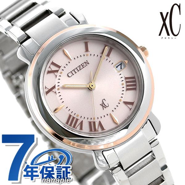 【今ならさらに+7倍でポイント最大32倍】 シチズン クロスシー エコドライブ レディース 腕時計 EO1204-51W CITIZEN xC ヒカリコレクション ピンク 時計