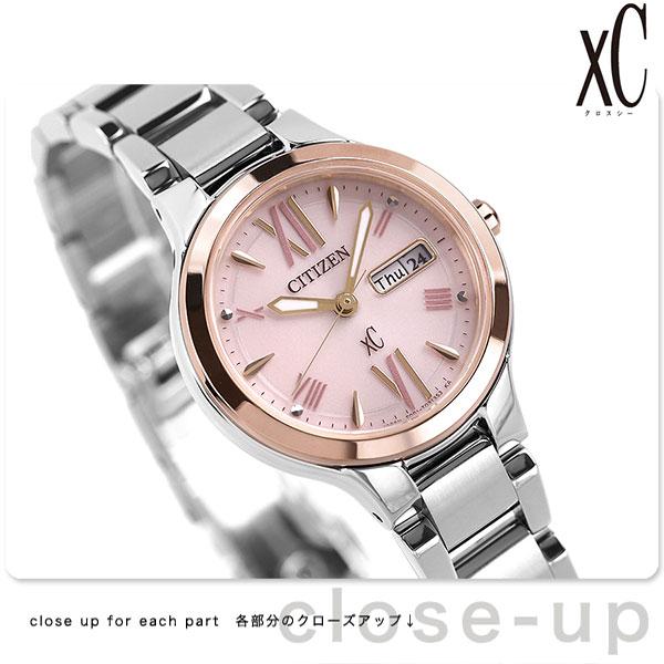 シチズン クロスシー エコドライブ レディース EW3224-53W 腕時計 デイデイト ピンク 時計【あす楽対応】