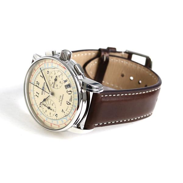 7614 Clock Lz126 Los Chronograph 5 Ivory Zeppelin Watch Angeles b6yfYg7