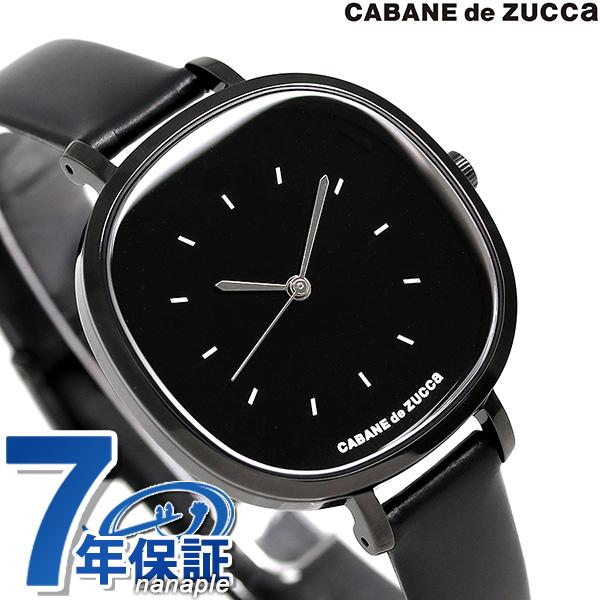 ズッカ バターサブレ 35mm レディース 腕時計 AJGK084 CABANE de ZUCCa オールブラック 時計【あす楽対応】