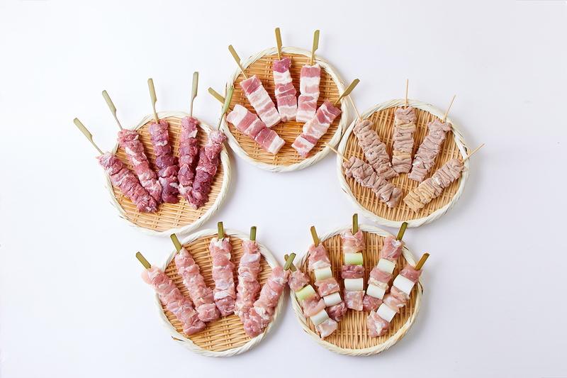 焼き鳥 串焼き 海鮮丼 スイーツ 美味しいものや 七つ壺 定番スタイル 国産 焼き豚 鶏肉 5本入り×各種5パック 豚 25本 豚肉 鶏5種類セット 全国どこでも送料無料 生