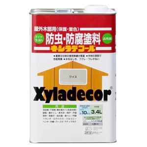 【カンペハピオ】木材保護塗料 キシラデコール【3.4L ワイス】