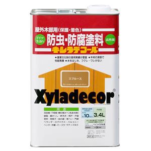 【カンペハピオ】木材保護塗料 キシラデコール【3.4L スプルース】