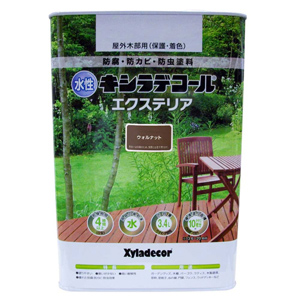 【カンペハピオ】木材保護塗料 水性XDエクステリアS【3.4L ウォルナット】