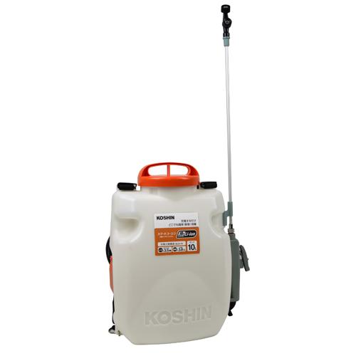 【工進】噴霧器 充電式背負い噴霧器10L【SLS-10 10L ホワイト×オレンジ】