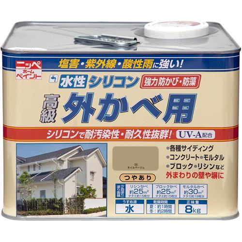 【ニッペホームプロダクツ】水性塗料 水性シリコン外かべ用【屋外用 8kg タイルベージュ】