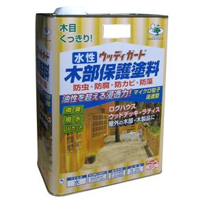 【ニッペホームプロダクツ】水性塗料 水性ウッディガード【木部用 3.2L ウォルナット】