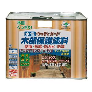 【ニッペホームプロダクツ】水性塗料 水性ウッディガード【木部用 7L ウォルナット】
