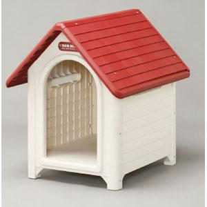 【大型送料適用商品】【アイリスオーヤマ】犬舎 ボブハウスL【L レッド/オフホワイト】