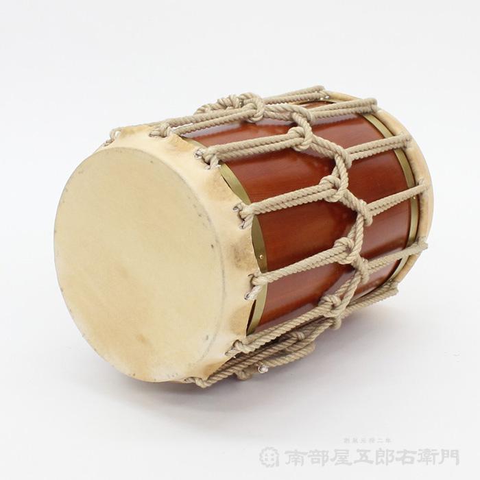 【和太鼓・獅子舞・正月・イベント】 桶胴太鼓 7寸5分 革面直径22,5cm 牛革使用