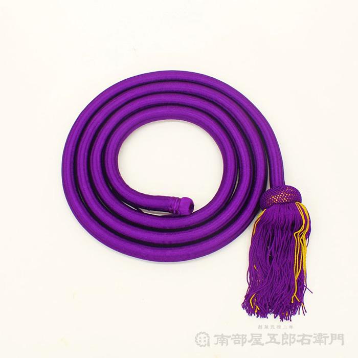 曳台・山車用太鼓飾り紐 太鼓革面直径2尺4寸用 紫色 紐丈5mX太さ3,8cm