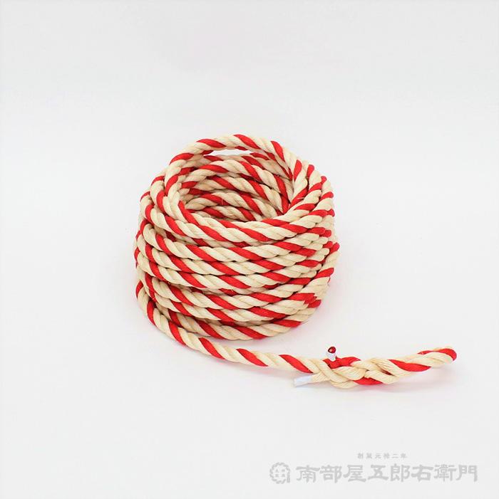 曳台・山車用曳綱 紅白・マニラ麻製 長さ30mX太さ1,8cm