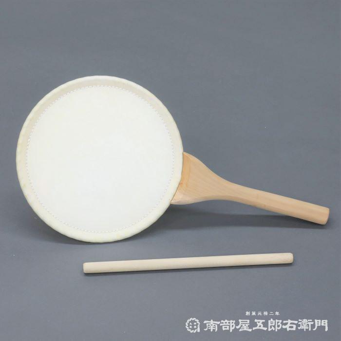 団扇太鼓1尺5寸 革面直径45cm ばち付 無地