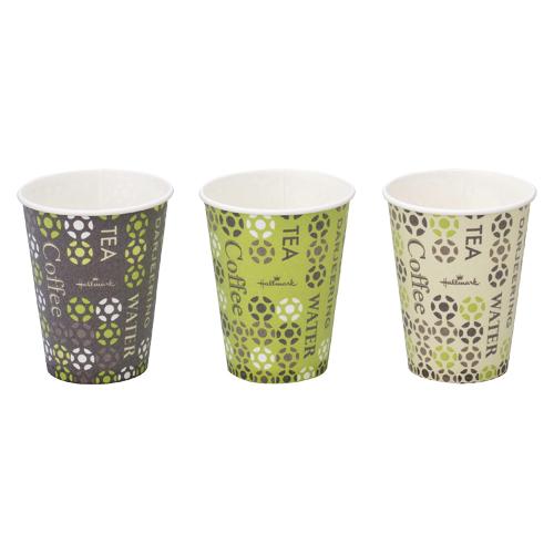 紙コップ 耐熱 7オンス 300個 205ml 使い捨てカップ 送料無料 絵柄アソート Hallmark ランキングTOP10 当店限定販売 断熱カップ ストロングカップ 60個×5セット