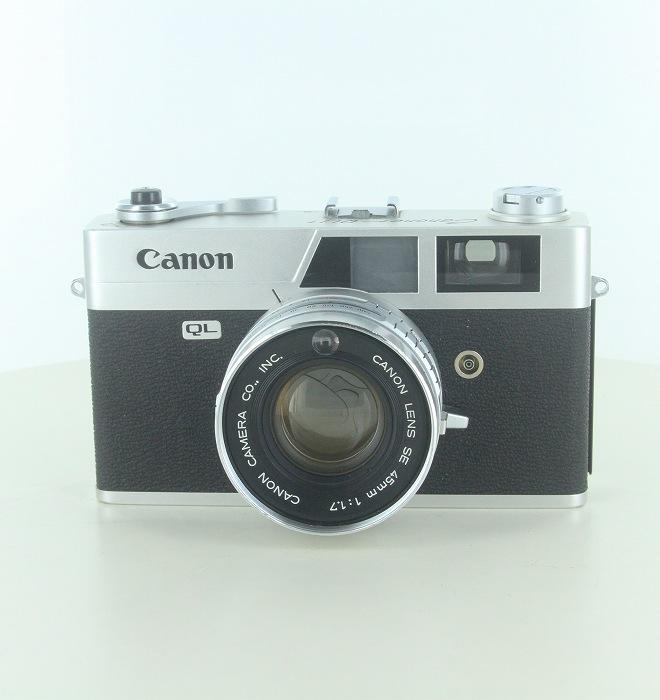 国内正規品 中古 キヤノン Canon キャノネット QL-17 42mm 中古カメラ ランク:B 1.7 奉呈 フィルムカメラ シルバー