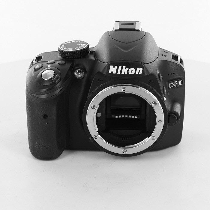 【中古】【B】 (ニコン) Nikon D3200 ブラック【中古カメラ デジタル一眼】 ランク:B