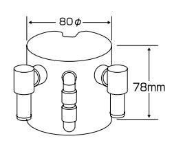 汎用ストリート・オイルキャッチタンク ( CUSCO ) 00B009HB クスコ 【 15φホース用 縦置き 0.6L 】