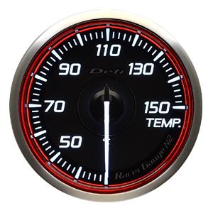 Defi/デフィ Racer Gauge N2(レーサーゲージ N2) 温度計(TEMP.) Φ60 レッド 商品番号:DF16903