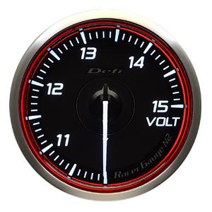 Defi/デフィ Racer Gauge N2(レーサーゲージ N2) 電圧計(VOLT) Φ60 レッド 商品番号:DF17103
