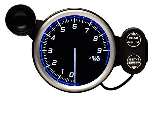 Defi/デフィ Racer Gauge N2(レーサーゲージ N2) タコメーター/Max9000RPM Φ80 ブルー 商品番号:DF17201