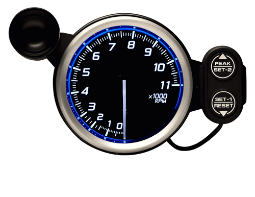 Defi/デフィ Racer Gauge N2(レーサーゲージ N2) タコメーター/Max11000RPM Φ80 ブルー 商品番号:DF17301