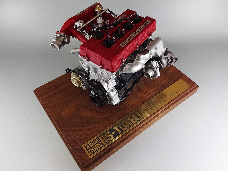 【割引クーポン配布中!】日下エンジニアリング FJ20ET エンジン 1/6スケールモデル スカイライン2000RS-TURBO/DR30型
