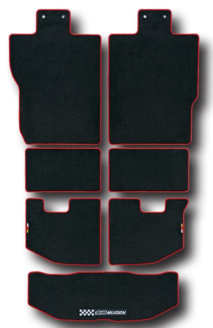 【割引クーポン配布中!】無限/MUGEN スポーツラゲッジマット ブラック×レッド N-BOX スラッシュ/JF1、JF2 商品番号:08P11-XMDC-K0S0-RD