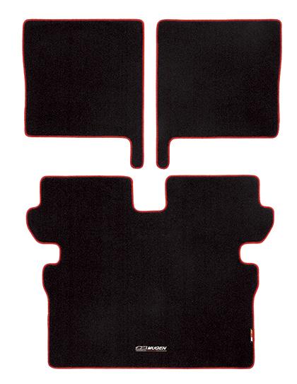無限/MUGEN スポーツラゲッジマット ブラック×レッド N-VAN/JJ1、JJ2 商品番号:08P11-XNJ-K0S0-RD