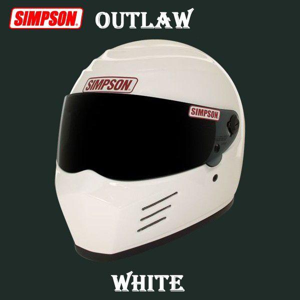 【最大10%OFFクーポン配布中】【SIMPSON・シンプソン】ヘルメット SIMPSON OUTLAW シンプソン アウトロー ホワイト【送料無料!】(※一部地域を除く)