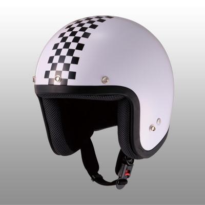 【山城ヘルメット・JUQUE】FC-023 チェッカージェットヘルメット