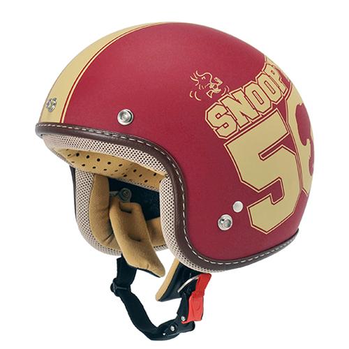 【最大10%OFFクーポン配布中】【SNOOPY・スヌーピー】SNJ-27 ジェットヘルメット アメリカン/レッド