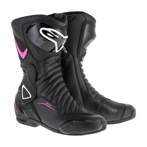【ALPINESTARS・アルパインスターズ】STELLA SMX 6 BOOT(2223117) ステラ ブーツ ブラック/フクシア/ホワイト【レディース】