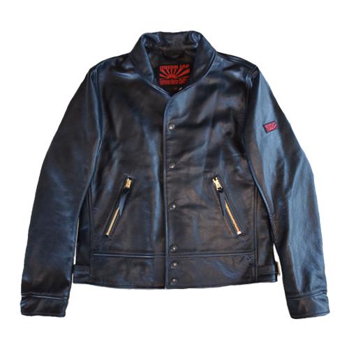 【UNION JAP・ユニオンジャップ】【COSSACK】 LotNo./UJ-028-S17 レザージャケット ブラック