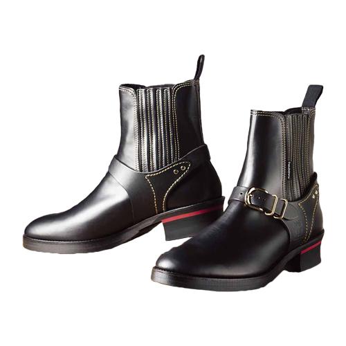 【KADOYA・カドヤ】K'S LEATHER ケーズレザー RIDE CHELSEA(No.4321) ブーツ ブラック/ブラック