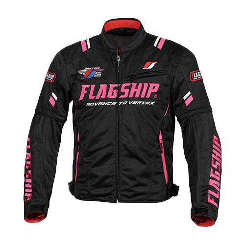 フラッグシップ FJ-S194 2020春夏 アーバンライドメッシュジャケット ブラック/ピンク FLAGSHIP Urban Ride Mesh Jacket