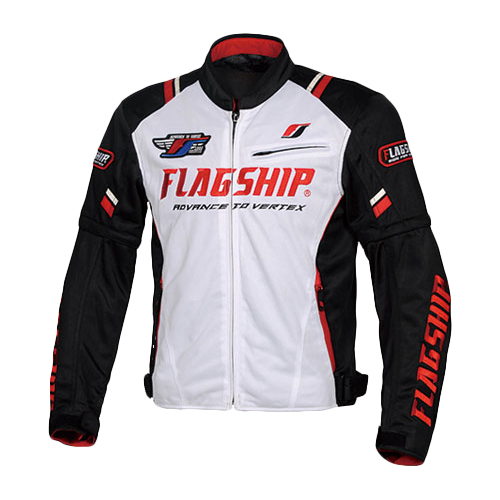 フラッグシップ FJ-S194 2020春夏 アーバンライドメッシュジャケット ホワイト/ブラック FLAGSHIP Urban Ride Mesh Jacket