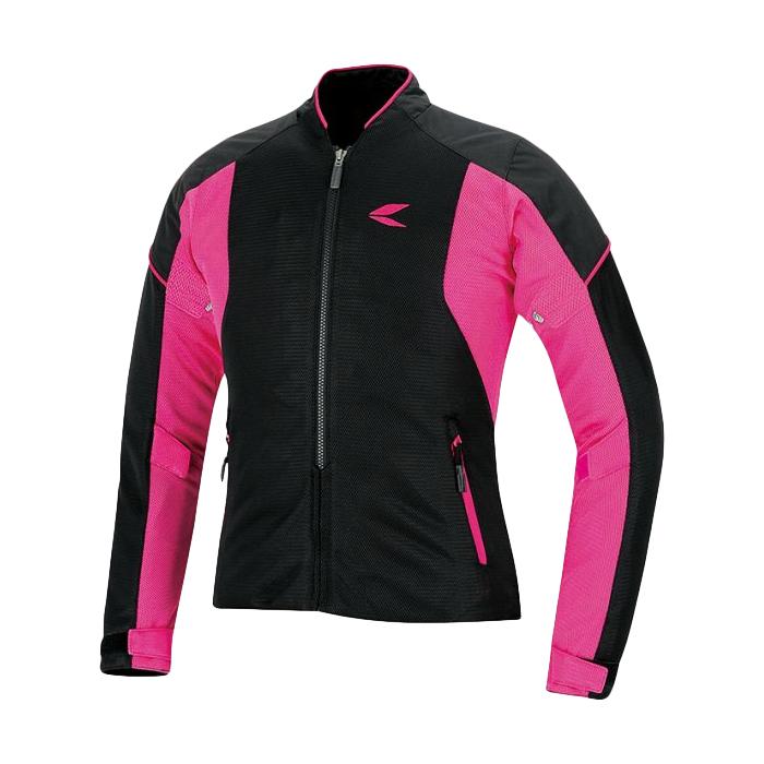 レディース RSタイチ RSJ317 クルー ブラック メッシュジャケット ピンク 高品質 全国一律送料無料
