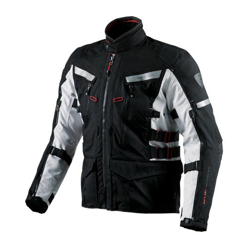 【REV'IT・レブイット】SAND2 FJT150-1170 サンド2 テキスタイルジャケット ブラック/シルバー