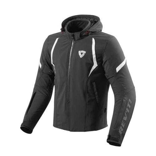【REV'IT・レブイット】BURN バーン テキスタイルジャケット FJT234-0010 ブラック/ホワイト