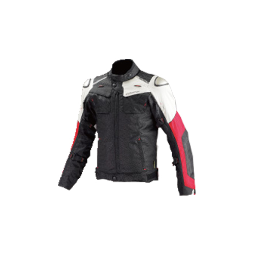 【KOMINE・コミネ】【秋冬物】JK-588 フルイヤーチタニウムジャケット ブラック/レッド