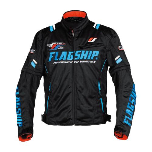 【FLAGSHIP・フラッグシップ】【春夏物】FJ-S194 アーバンライドメッシュジャケット ブラック/ブルー