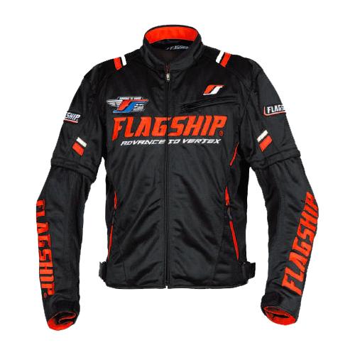【FLAGSHIP・フラッグシップ】【春夏物】FJ-S194 アーバンライドメッシュジャケット ブラック/レッド