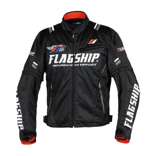 【FLAGSHIP・フラッグシップ】【2019春夏物】FJ-S194 アーバンライドメッシュジャケット ブラック/ホワイト【送料無料!】(※一部地域を除く)