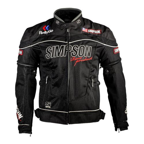 【SIMPSON・シンプソン】【2019春夏物】NSM-2 メッシュジャケット ブラック【送料無料!】(※一部地域を除く)